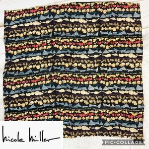 Rare Nicole Miller silk 'junk food' print scarf